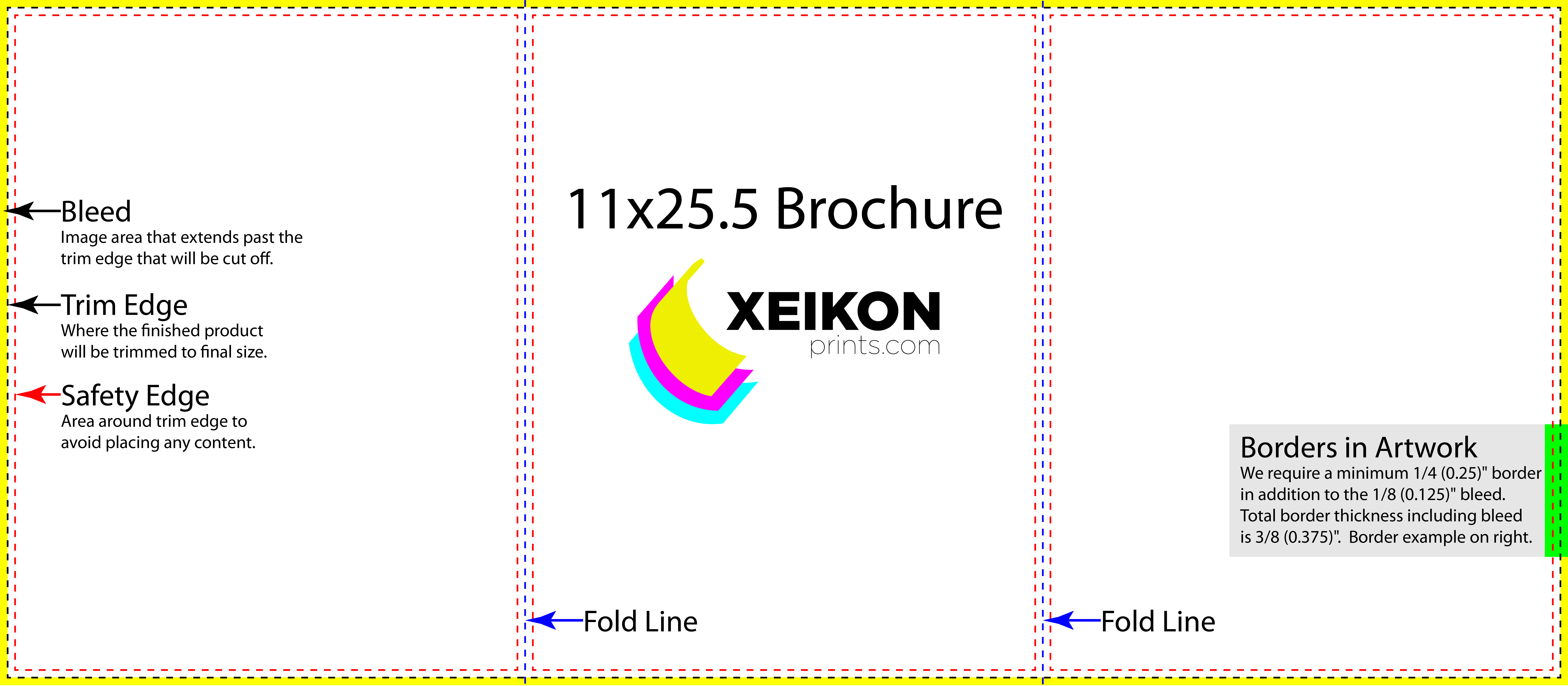 X Trifold Brochure - Brochure trifold template